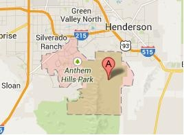 Henderson NV Zip Code 89052 Boundary Map View