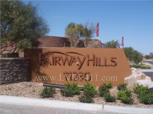 Fairway hills in the ridges of summerlin