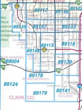 Map of southwest las vegas real estate 89135
